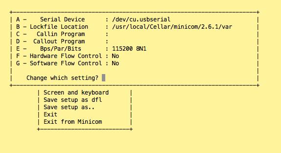 minicom 配置